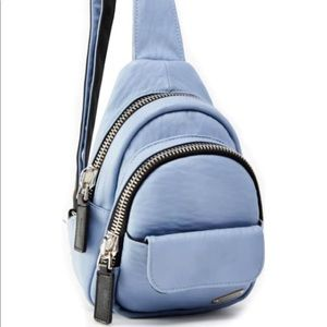 Alex Faux Leather Crossbody Backpack
